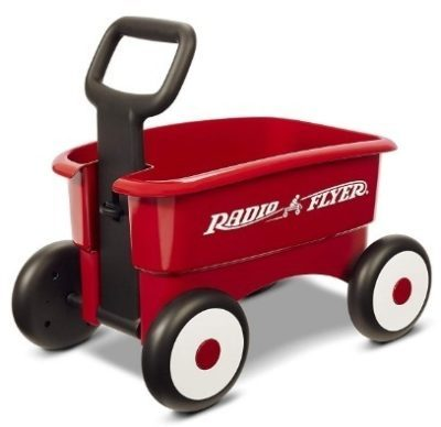 This is an image of baby red 2 in 1 wagon