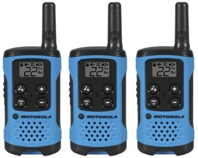 This is an image of kids motorola walkie talkies pack 3 in blue color