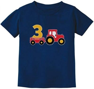 This is an image of kids t shirt gift birthday in blue colors