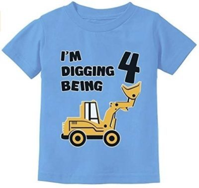This is an image of boy 4 years old shirt gift in blue color
