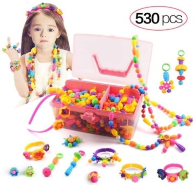 This is an image of baby girl diy jewelry pop beard with 530 pieces