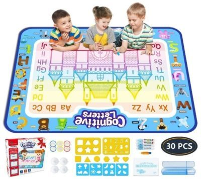 This is an image of kids magic doodle mat in colorful colors