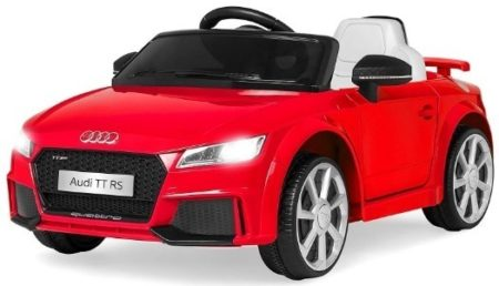 This is an image of kids car audi TT car ride on in red color