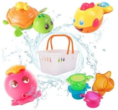 This is an image of baby bath toys