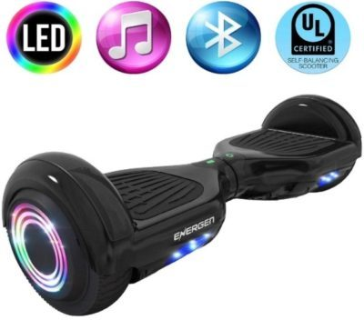 This is an image of kid's hoverboard in black color