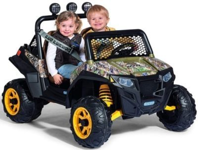This is an image of kids camoflage ride on truck for kids