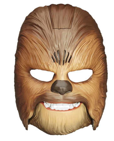 This is an image of a star wars Chewbecca electronic mask for boys.