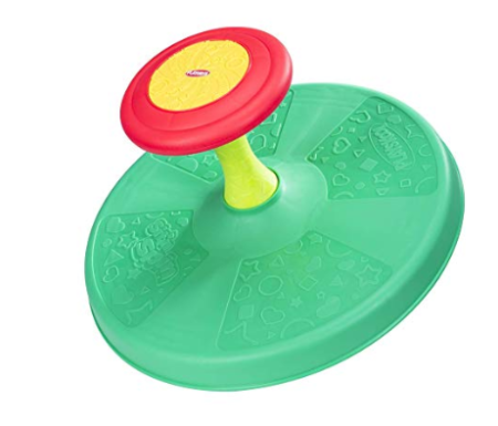 This is an image of a green spinning toy for girls.