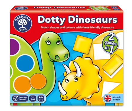 This is an image of a dinosaur matching game for kids.