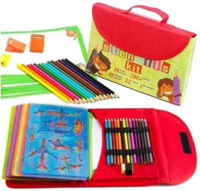 This is an image of kids drawing pencils kit