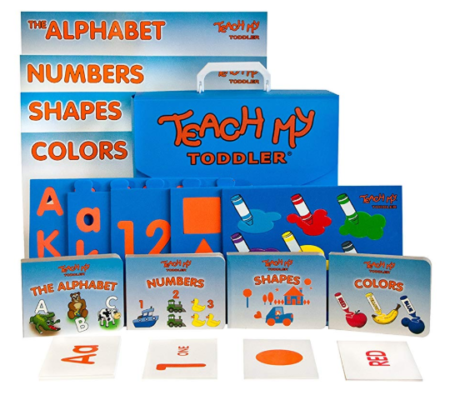 This is an image of a 68-piece learning set for kids.