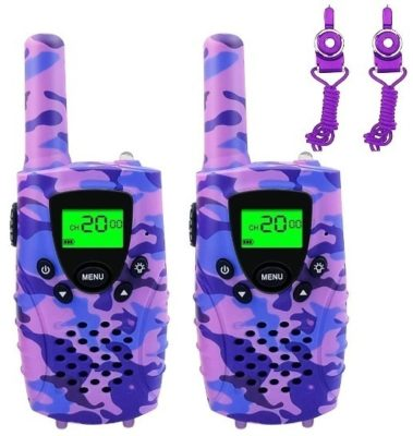 This is an image of kids walkie talkies in purple camoflage by FAYOGOO