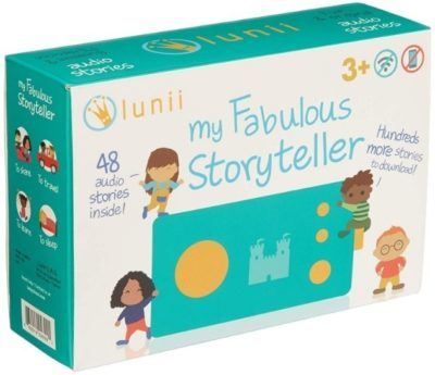 This is an image of kids storyteller device in blue color