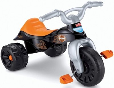 This is an image of kids tough bike in black color by harley davidson