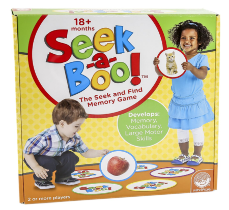 This is an image of a hide and find activity game for kid.