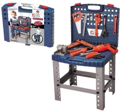 This is an image of kids workbench realistic tools for kids