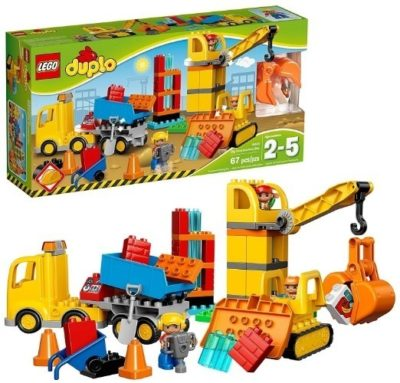 This is an image of kids lego duplo construction building kit