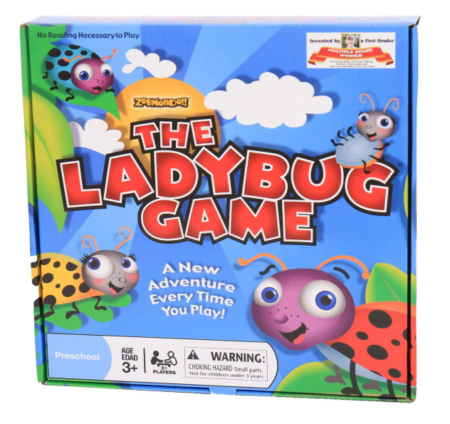 This is an image of an educational ladybug game for little kids.