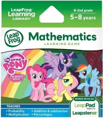 This is an image of girls learning game with little pony