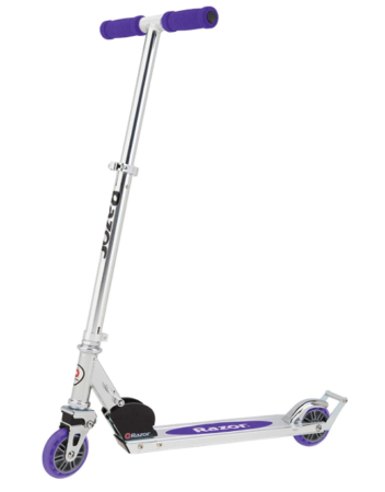 This is an image of purple scooter for girls.