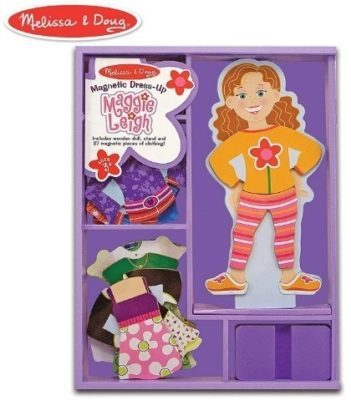 This is an image of baby girls dress up magnetic