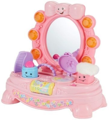 This is an image of baby magical pink mirror with music