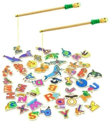 This is an image of kids magnetic fishing game
