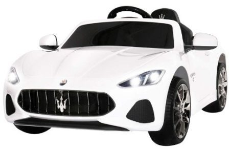 This is an image of kids maserati electric kids ride on cars in white color