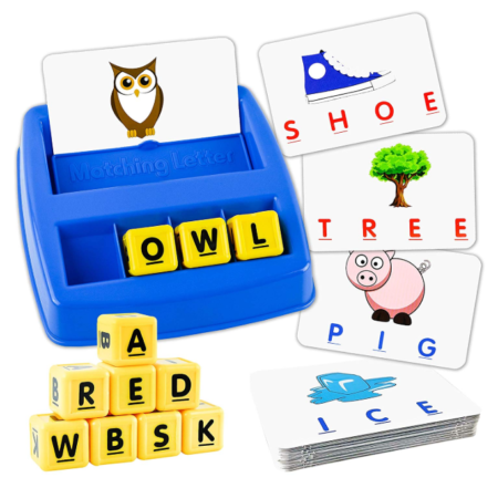 This is an image of a little kid's matching and memory game.