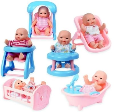 This is an image of baby girls mini dolls pack