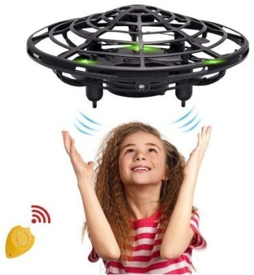 This is an image of girls mini drone in black color