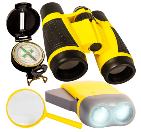 This is an image of a yellow adventure tools for kids.