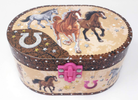 This is an image of a running horse musical box for kids.