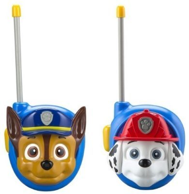 This is an image of kids paw patrol walkie talkies in blue color