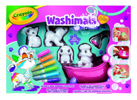 This is an image of a 4 piece toy pets with markers designed for kids.
