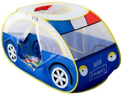 This is an image of kids playhouse tent in police car design