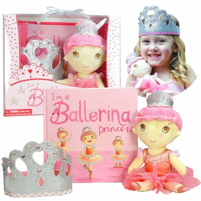This is an image of girls gift set includes book