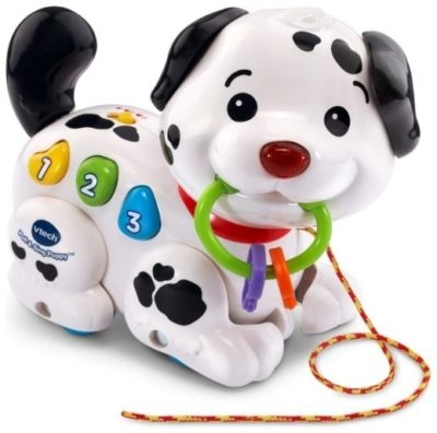 This is an image of baby toy pull and sing puppy