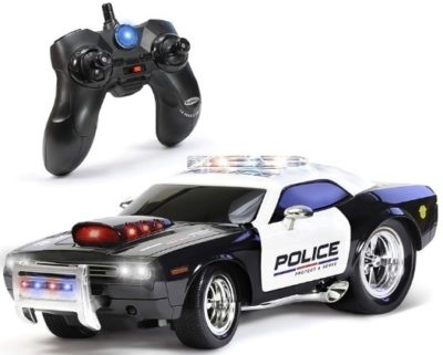 This is an image of toddler remote control police car