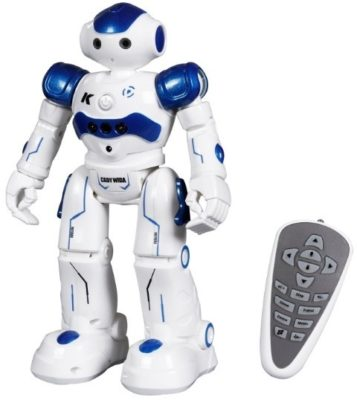 This is an image of kids white remote control robot toy