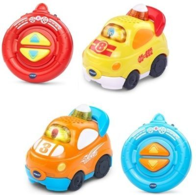 This is an image of toddler remote control pack of two cars