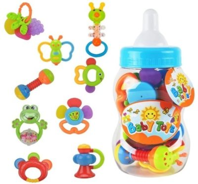 This is an image of baby rattle teether toys