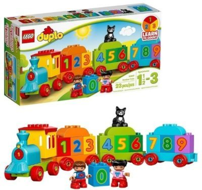 This is an image of LEGO duplo train set educational and building kit