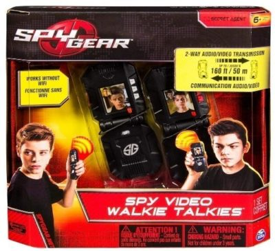 This is an image of kids video walkie talkies in black color