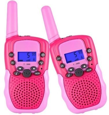 This is an image of baby girl walkie talkies in pink color