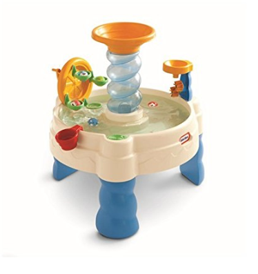 This is an image of a spiral water play table for little kids.
