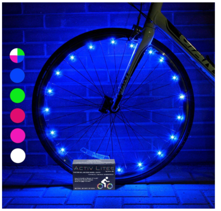 This is an image of a colorful wheel lights for kid's bike.