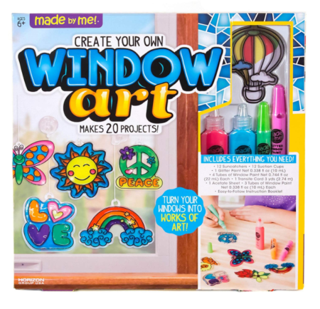 This is an image of a window art set for kids.
