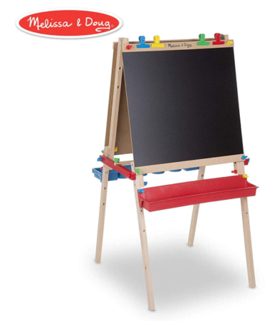 This is an image of a kid's wooden chalkboard.