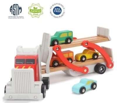 This is an image of kids wooden car toys in multi colorful colors